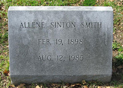 Allene Sinton Smith 1898 - 1985