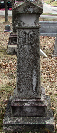 Headstone of Ann Sinton Adams (née Murphy) 1812 - 1881