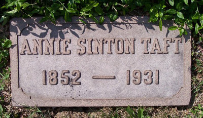 Headstone of Anne Sinton Taft
