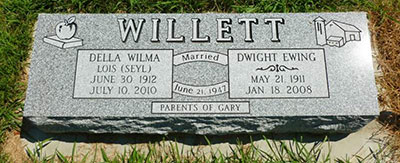 Headstone of Dwight Ewing Willett 1911 - 2008