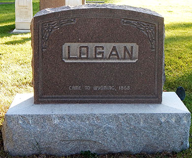 Family Headstone of Logan