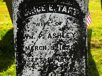 Headstone of Eunice Elizabeth Ashley (née Taft) 1829 - 1893