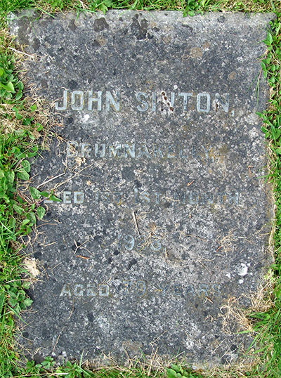 Headstone of John Sinton 1849 - 1928