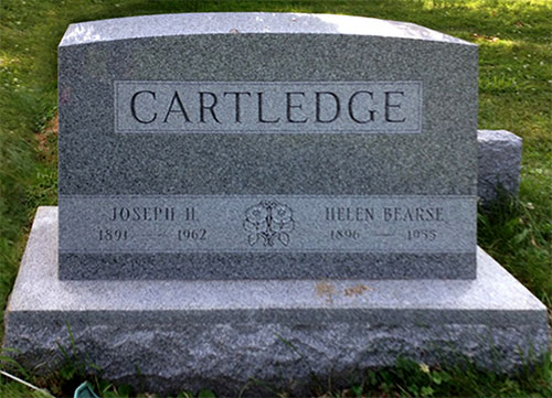 Headstone of Joseph H. Cartledge 1891 - 1962