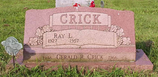 Headstone of Ray Leon Crick 1927 - 1957