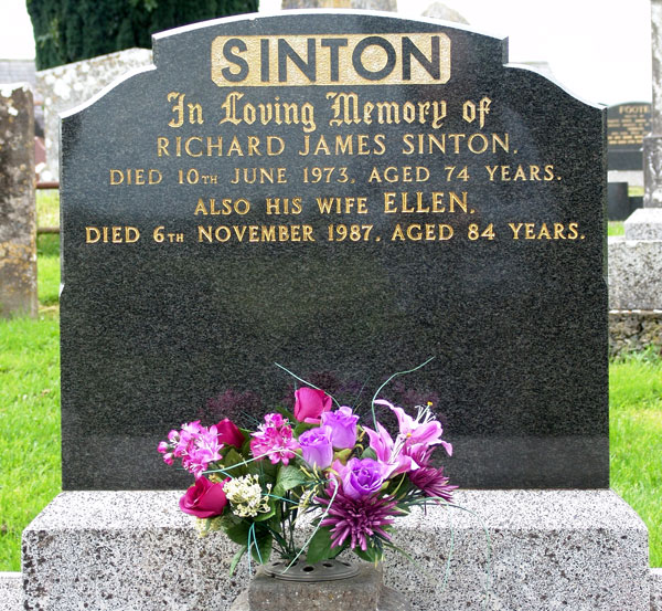 Headstone of Richard James Sinton 1899-1973