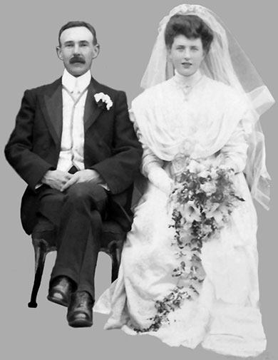 Wedding of John Gibson and Sara Sinton 1908