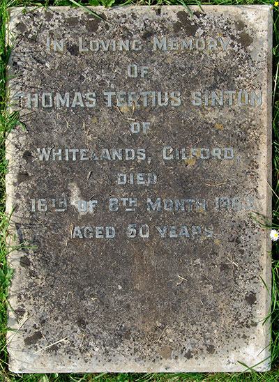 Headstone of Thomas Tertius Sinton 1913 - 1963