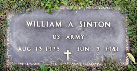 Headstone of William Albert Sinton 1935 - 1981