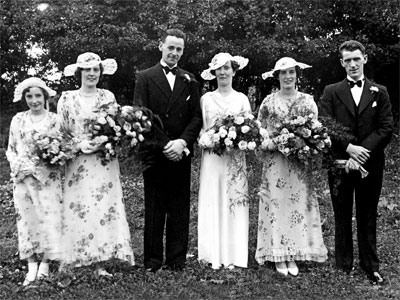 Wedding of Robert Sinton & Lily Speers 12 July 1937